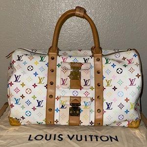 Authentic Louis Vuitton multicolor keepall 45 bag
